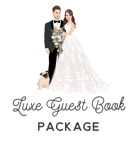Miss Design Berry Wedding Bundle Gallery Canvas / 16x20 (50 Guests) Luxe Guest Book Alternative Package