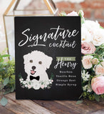 Miss Design Berry Wedding Bundle Gallery Canvas / 16x20 (50 Guests) Pet Lover Wedding Package - Guest Book, Cocktail Sign and Big Head