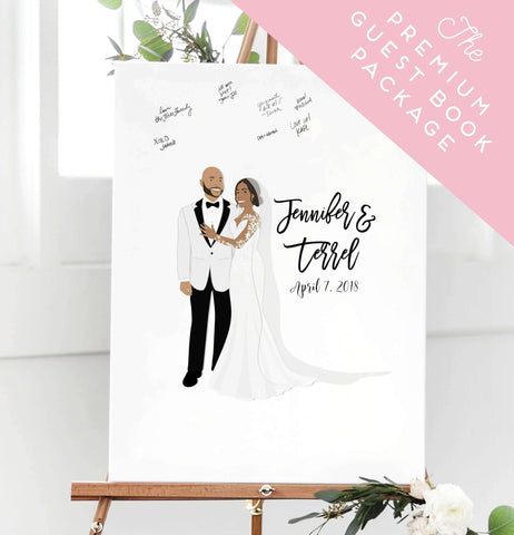 Miss Design Berry Wedding Bundle Premium Guest Book Alternative Canvas Package