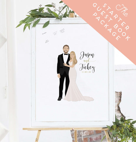 Miss Design Berry Wedding Bundle The Starter Guest Book Canvas Alternative Package