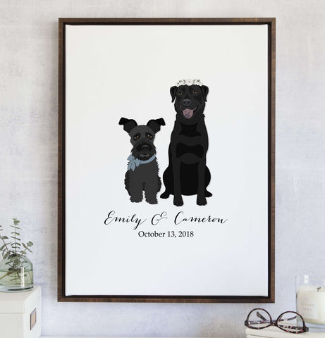 Miss Design Berry Wedding Guest Book Alternative with Pet Portraits