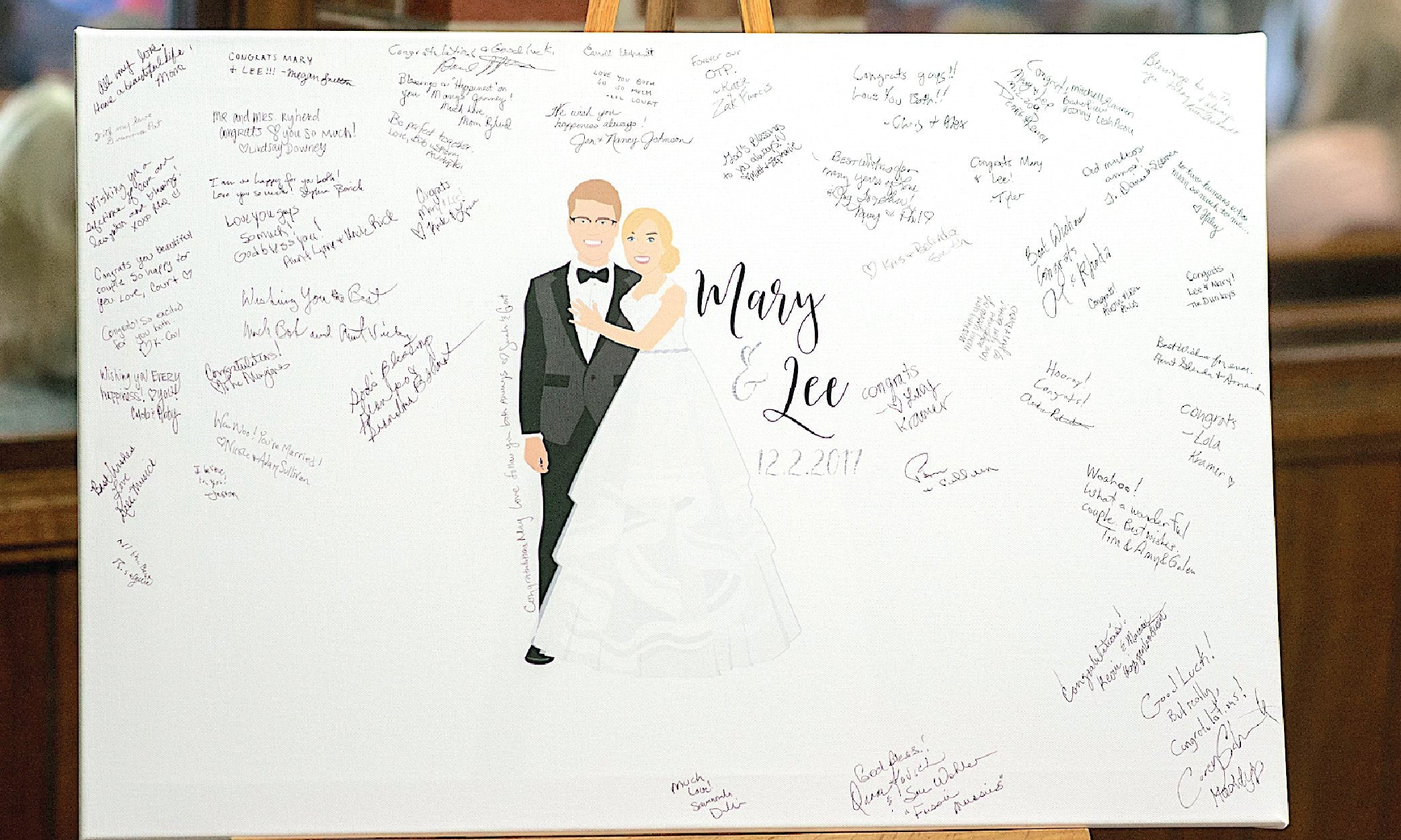 Wedding guest book alternative by Miss Design Berry