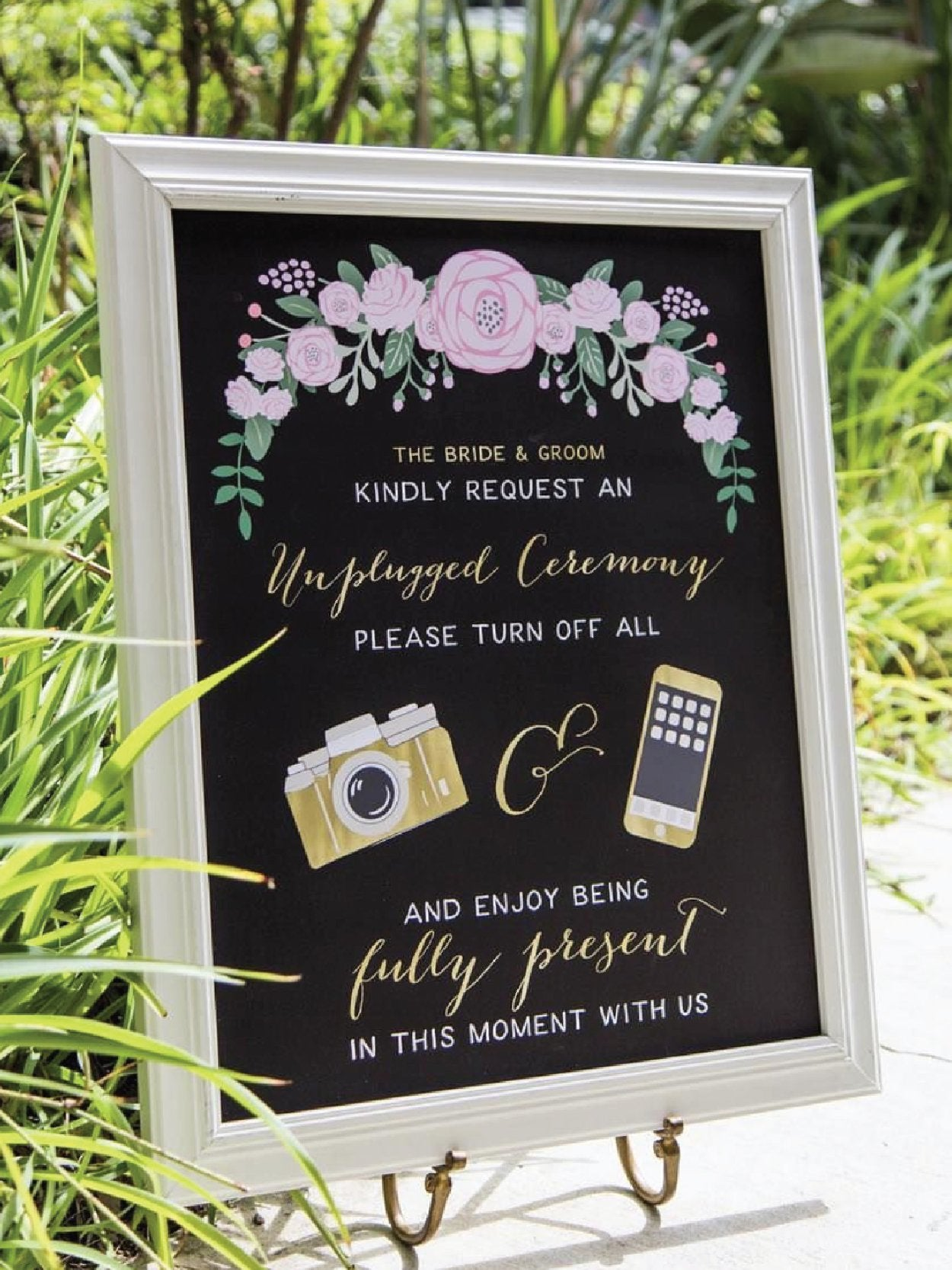 Unplugged wedding sign from Miss Design Berry