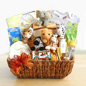 Baby gift baskets newborn baby gifts noahs ark baby gift basket negle Image collections