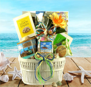 Tropical beach vacation gift baskets seaside snacks beach gift basket negle Image collections