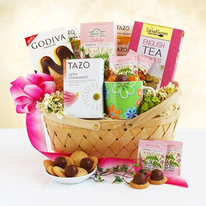 Coffee and tea gift baskets tea desserts for mom gift basket negle Image collections