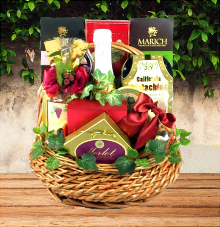 Napa Valley Retreat Gift Basket