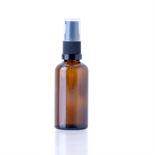 Amber Glass Bottle with Serum / Lotion pump - 50mL