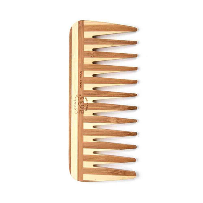 Bass Bamboo Wood Comb Medium Wide Tooth