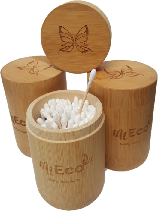 Mieco Bamboo Cotton Buds in Bamboo Tube 100pk