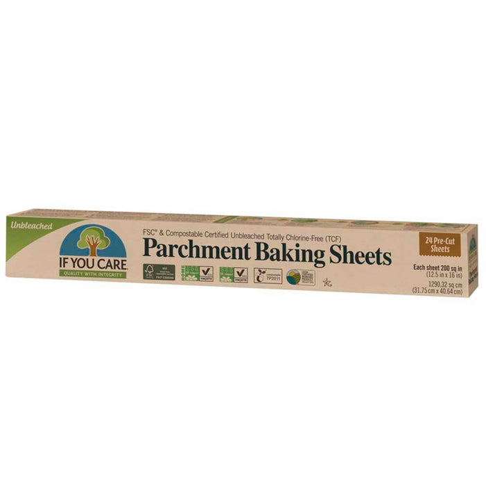 If You Care Parchment Baking Paper Sheets 24 pcs