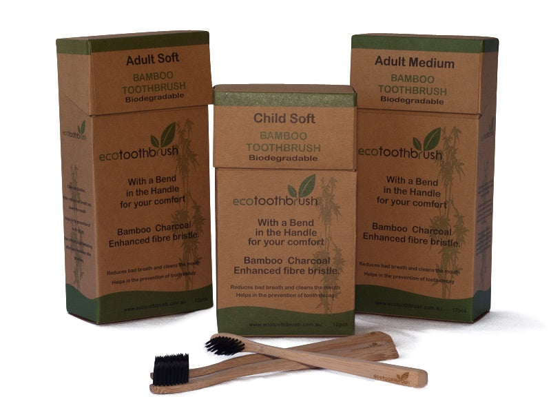 Bamboo Charcoal Toothbrush Adult Soft