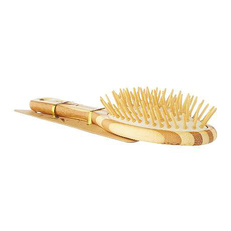 Mieco Bamboo Hair Brush Large-Bathroom-Eco Warehouse Aus