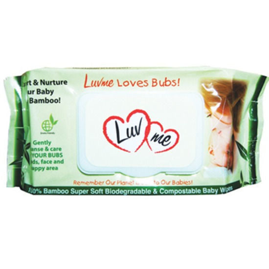 Luv Me Bamboo Biodegradable Wet Wipes 20pk