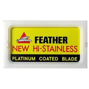 Feather New Hi-Stainless Razor Blades (Pack of 5)