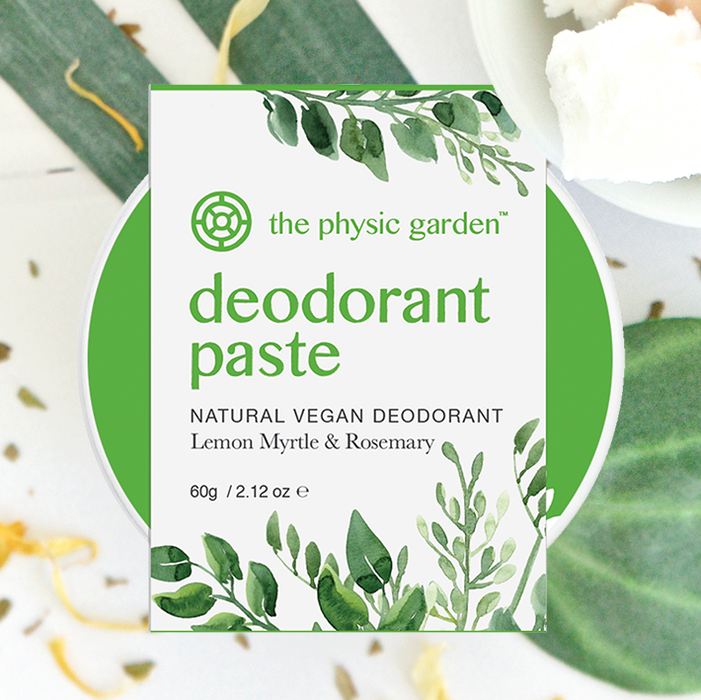 The Physic Garden Lemon Myrtle Deodorant Paste 60g