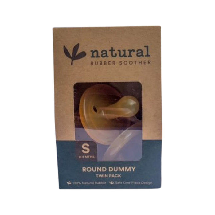 Natural Rubber Soother Round Dummy Twin Pack