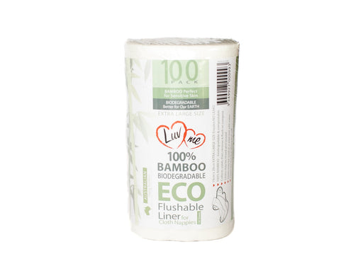 Luv Me Bamboo Flushable Nappy Liners 100pk