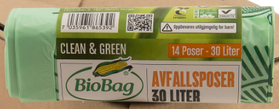 BioBag Compostable 30L Bags - Roll of 14-Compostable Bags-Eco Warehouse Aus