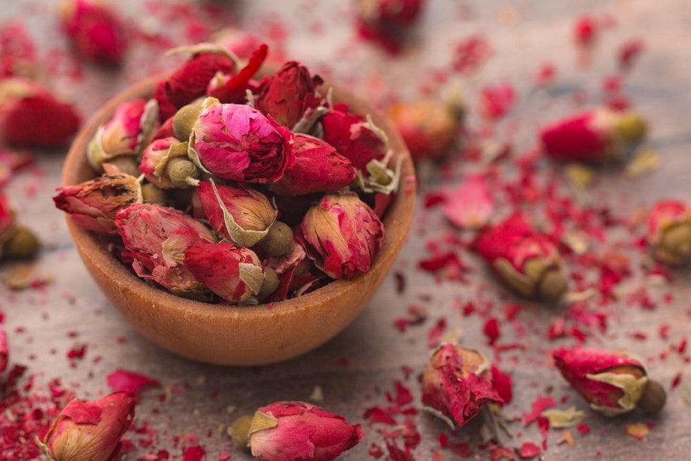 Dried Flowers - Small Rose Buds ($ per 100g)