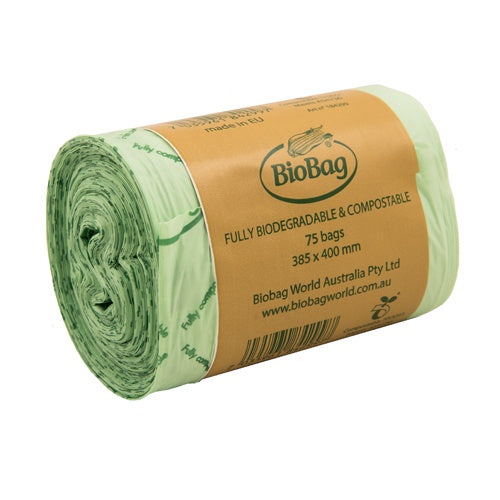 BioBag 8L Roll of 75 Compostable Bags (385 x 400mm)-Compostable Bags-Eco Warehouse Aus