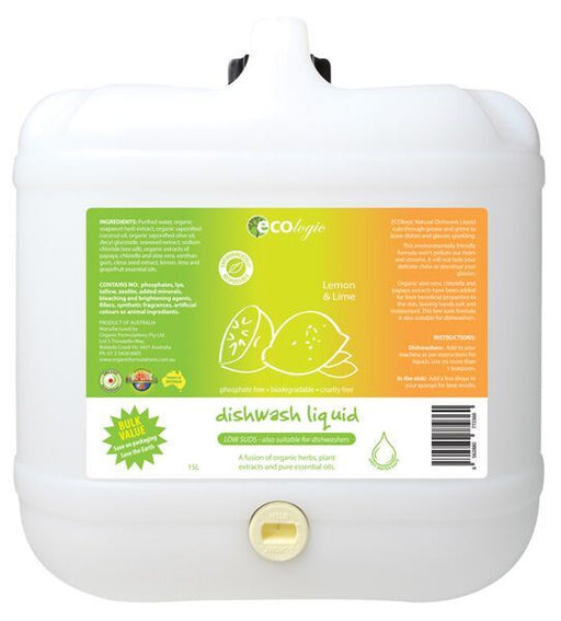 Ecologic Dishwashing Liquid Lemon & Lime - Refill ($ per 100g)