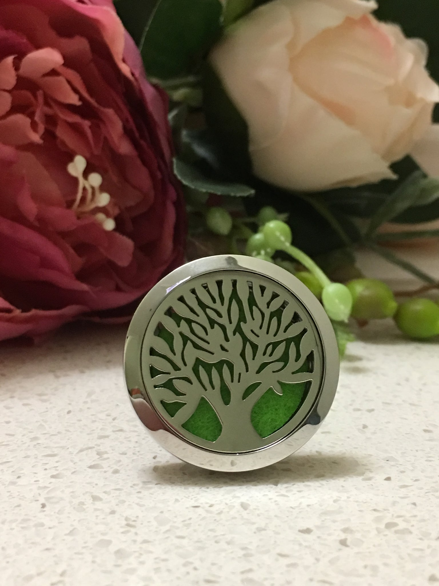 30mm Stainless Steel Car Diffuser - Tree of Life