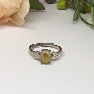 Golden Rutilated Ring #1