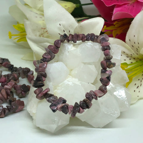 Rhodonite Chips Bracelet