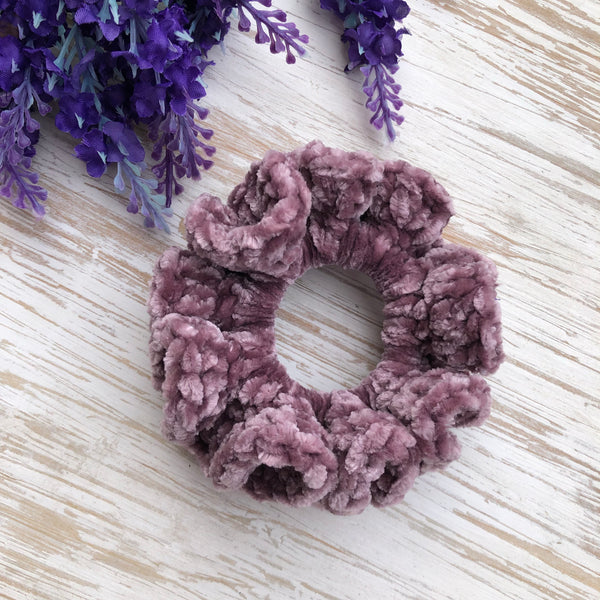 Luxe Velvet Scrunchies - Purple