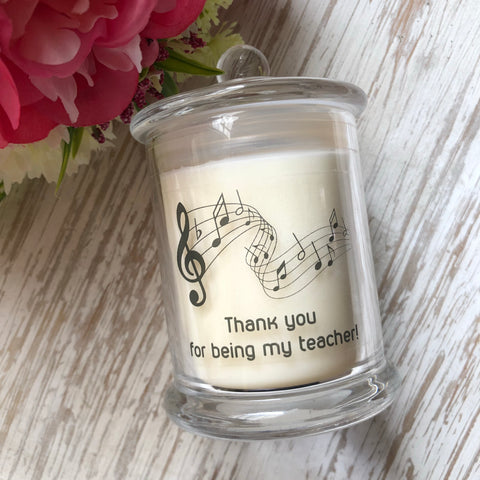 Music Thank You Candle