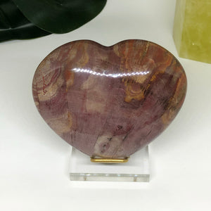 Petrified Wood Heart PWH103
