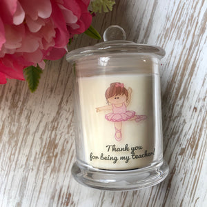 Ballerina Thank You Candle