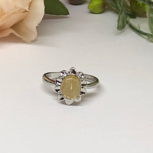 Golden Rutilated Ring #4