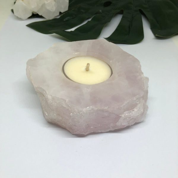 Rose Quartz Tealight Holder - RQTH201