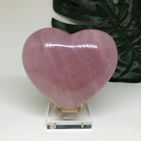 Rose Quartz Heart RQH02