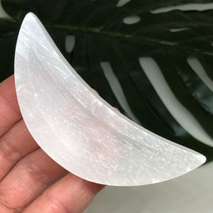 Selenite Moon Bowl SMB10