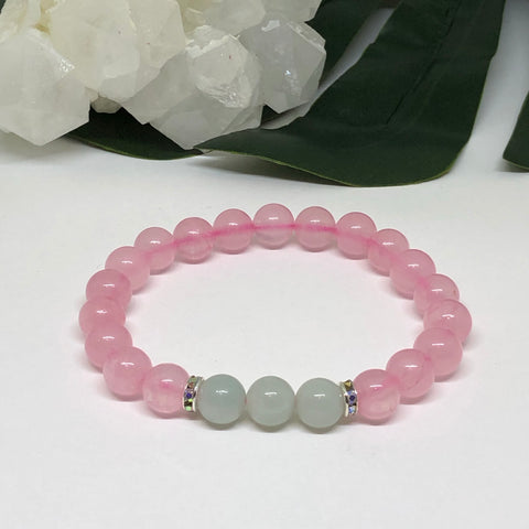 Rose Quartz & Amazonite Bracelet