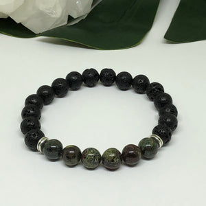 Dragon Blood & Lava Stone Diffuser Bracelet