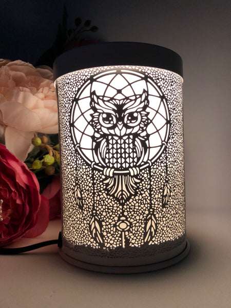 Dream Catcher Owl Metal Electric Melt Warmer
