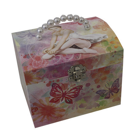 Ballerina Handbag Musical Jewellery Box