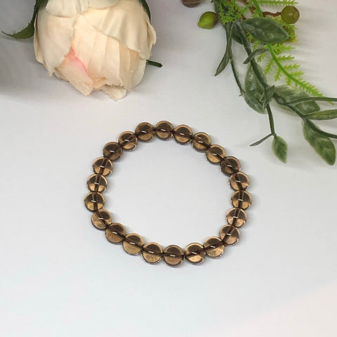 Smoky Quartz Bracelet - 8mm