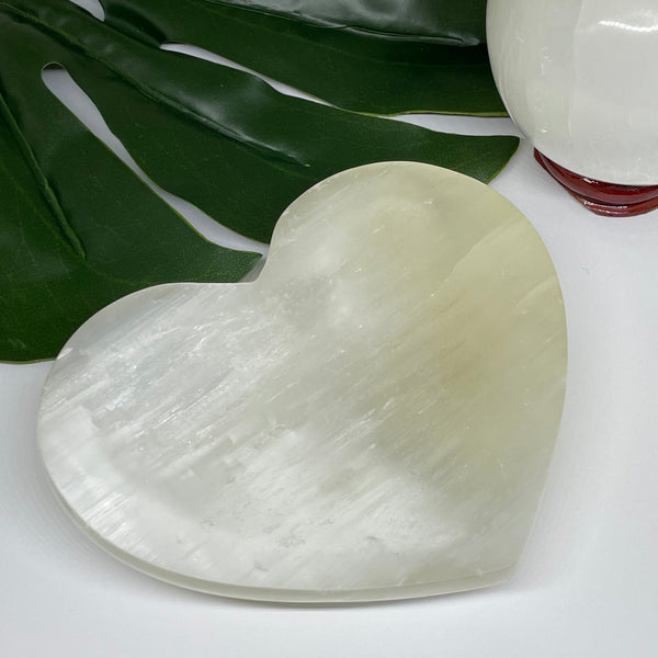 Selenite Heart Bowl SLNB4