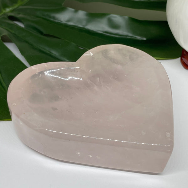 Rose Quartz Heart Bowl BOW9