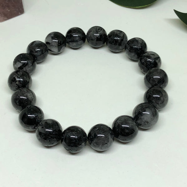 Black Tourmaline in Quartz Bracelet BL130