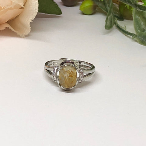 Golden Rutilated Ring #2