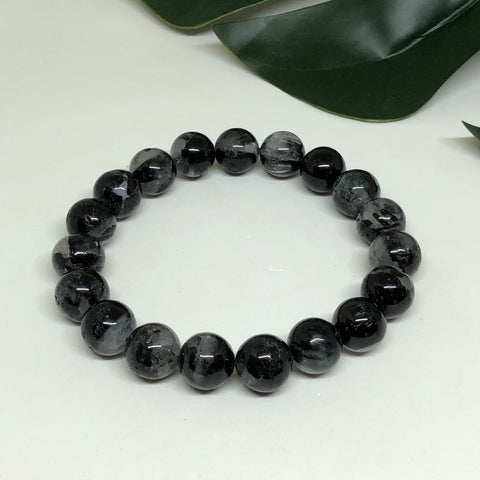 Black Tourmaline in Quartz Bracelet BL107