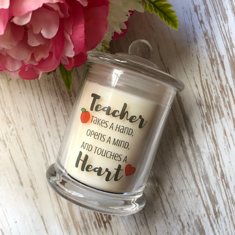 Teacher Takes A Hand Candle