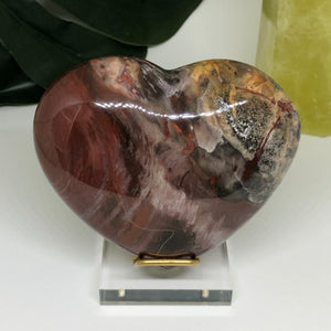 Petrified Wood Heart PWH107