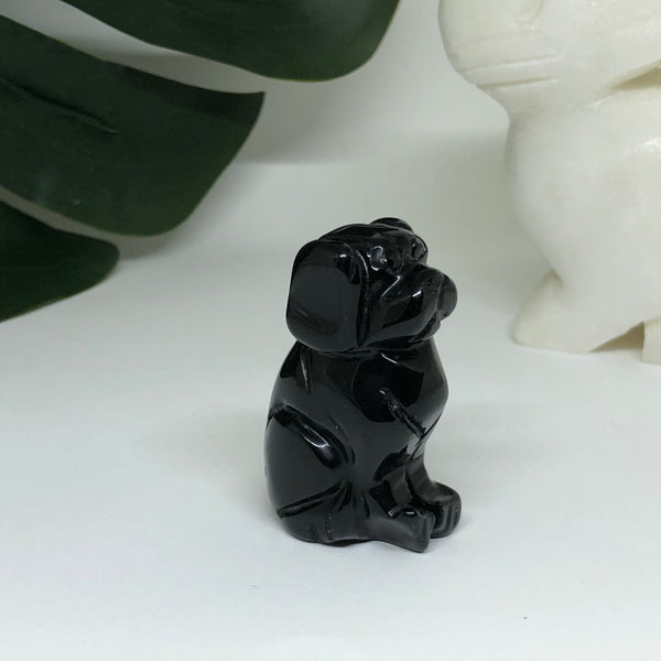 Black Obsidian Dog - D102